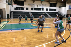 The Tridents Women's Club Basketball Team of the UOG Recreation Program fell short to the Guam Community College Women's Team in the opening game of the Trident Women's Basketball League.