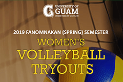 2019 Fanomnakan (Spring) Semester Volleyball Tryouts begin Saturday, February 2.