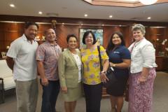 UOG reps with Governor Lou Leon Guerrero