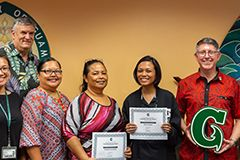 Two win UOG Employee Customer Service Awards