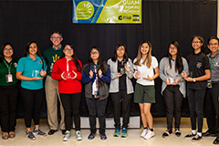 Seven young women from Guam's public high schools were honored for their computing-related achievements and interests during University of Guam's TechFest.