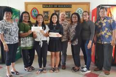 UOG students awarded $1,000 scholarships from Palau Women's Club