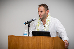 David Greene spoke on Feb. 1, 2019, as the 38th speaker of the University of Guam's Presidential Lecture Series, sharing defining moments in his career and how those moments have shaped the role he wants to play as a journalist going forward.
