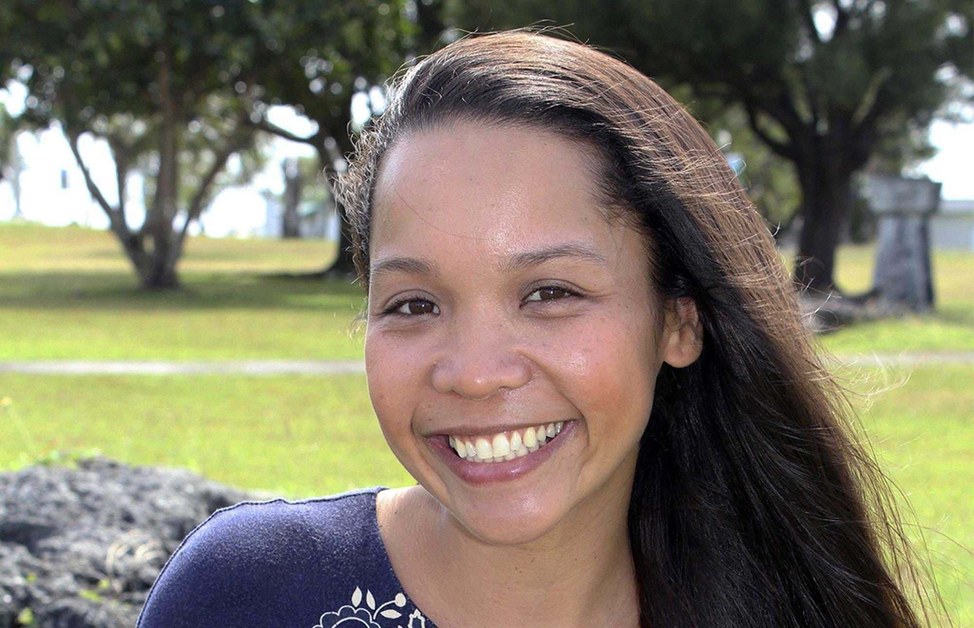University of Guam graduate student Sophia A. Sablan