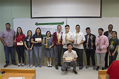 Twenty-four students from six high schools competed in the 2019 University of Guam High School Chemistry Titration Competition hosted by the Chemistry Program of UOG's College of Natural & Applied Sciences on Charter Day, March 12.