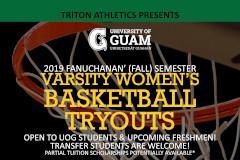 Women's Basketball Tryouts Flyer