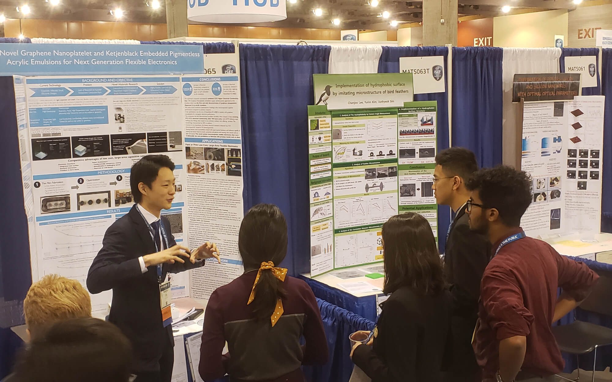 Daniel Z. Kang presents his project during the 2019 Intel International Science and Engineering Fair