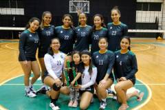 The University of Guam Triton Women's Volleyball Team, the University's varsity team, won its third straight Guam Women's College Volleyball League