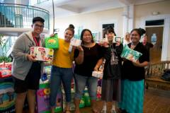 Women and Gender Studies students at the University of Guam made a donation today of diapers and various other