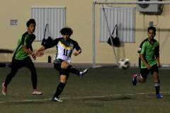 The University of Guam Men's Soccer Team played its best match of the season on Feb. 15 with a 5-0 victory over the Islanders FC at the Guam Football Association's National Training Center.