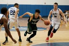 The University of Guam Triton Men's Basketball team opened the 2018-19 season with a 101-75 loss to the Andersen Bombers at the Coral Reef Recreation Center on the Andersen Air Force Base.