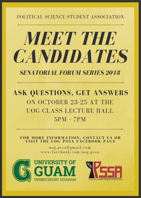 uog s political science student association hosts 2018 senatorial