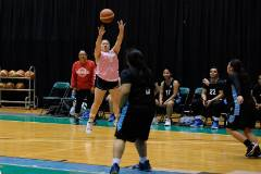 The Women's Basketball Club Team of the University of Guam Recreation Program, the Lady Tridents, lost to the Guam Community College team 61-49 in a Trident Women's Basketball League game on Feb. 13 at the UOG Calvo Field House.