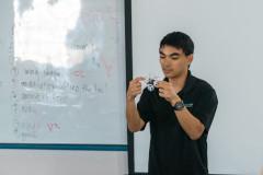 UAV workshop instructor Evan Kawamura