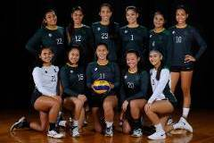 The University of Guam volleyball teams had a double win the night of Oct.