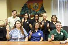 Three University of Guam students received $1,000 scholarships on Oct. 3 from the Guam Chapter of the National Association of Women in Construction.