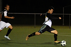 The University of Guam Men's Soccer Team defeated the Crushers Football Club 8-1 in the Guam Football Association Amateur Men's League on Feb. 8 at the GFA National Training Center.