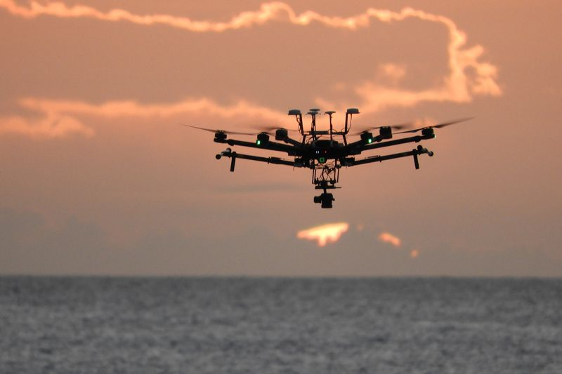 Drone takes to the skies to image offshore reefs