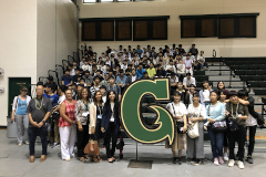 UOG's English Adventure Program and Chiba Eiwa High School take group photo together