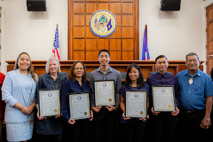 Three accounting students received a legislative resolution