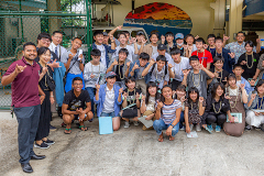 Kyoto High school students tour Marine Lab