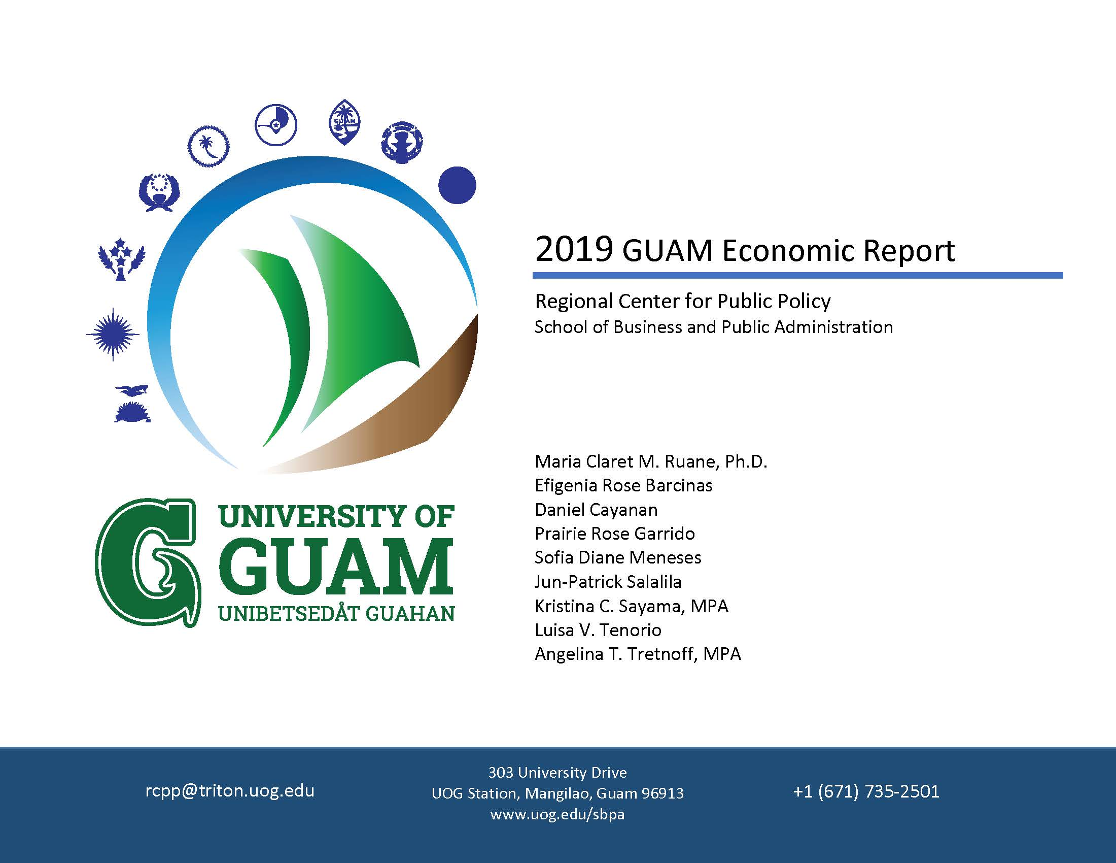 2019 Guam Economic Report Cover