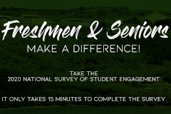 National Survey of Student Engagement survey flyer