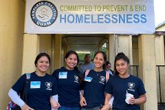 Group photo of UOG nursing students assisting during the pandemic