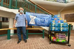 More than 20 cases of drinks from SHRM were delivered to COVID-19 workers and volunteers last week.