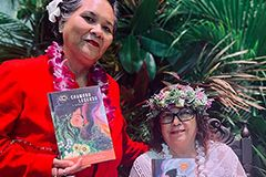 Photo of author Teresita Lourdes Perez and CHamoru translator Maria Ana Tenorio Rivera