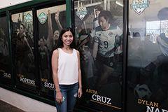 Triton Women's Soccer player Ariya Cruz