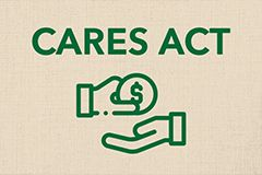 A photo of an icon that represents CARES Act