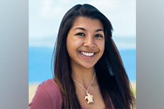 Leilani Sablan, who will be pursuing a master's in biology at the University of Guam, is the recipient of a 2020-2021 U.S. Pacific Territories Fishery Capacity Building Scholarship.