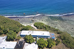 Aerial photo of the Marine Lab building