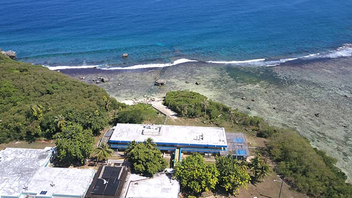 Aerial photo of the UOG Marine Lab building