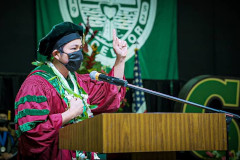 The University of Guam today conferred degrees to 246 graduates at its Fanuchånan 2020 Commencement Ceremony.