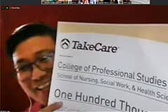 TakeCare Insurance Co. made its annual donation in support of UOG's nursing program during a virtual ceremony on Dec. 23.