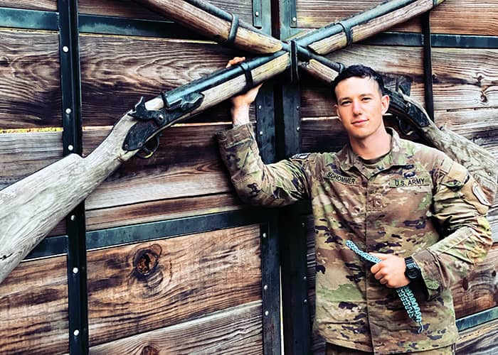 Between February and October, 2nd Lt. Michael Schommer earned multiple distinctions while at U.S. Army Infantry School and Ranger School.