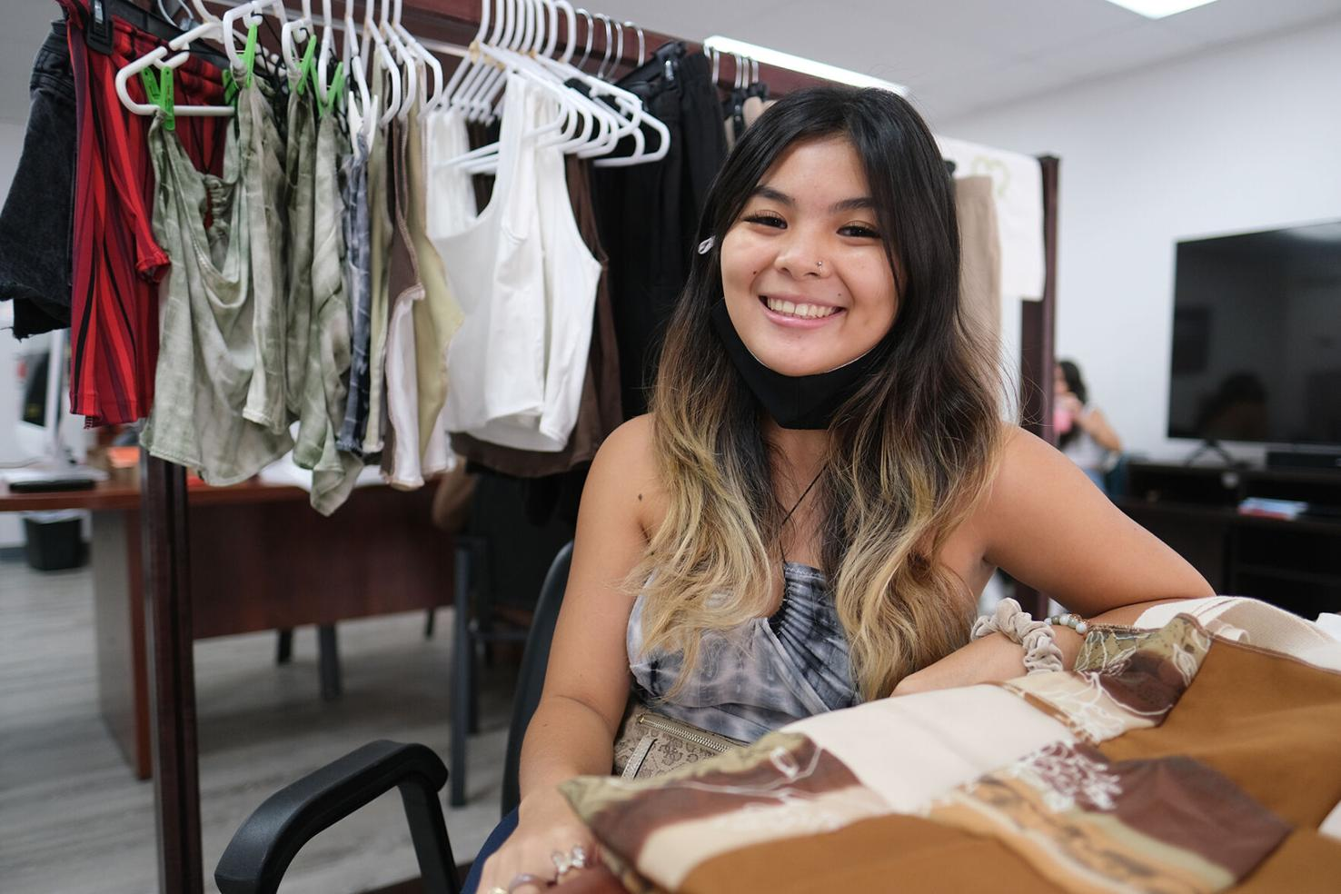 UOG business student Sierra Avellana launched her brand of upcycled apparel and products