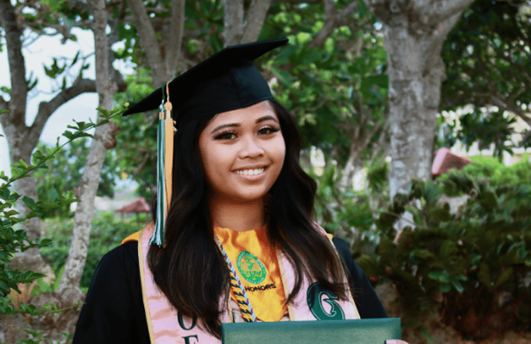 It wasn't until she looked back at the end of her degree that she could see how far she'd come.