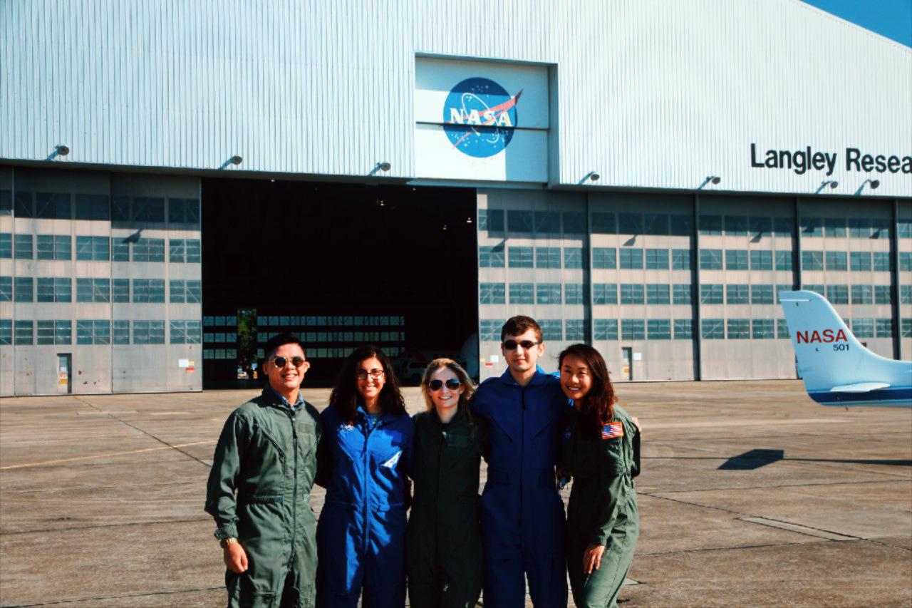 Tristan Palanca and NASA interns