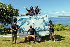 University of Guam Sea Grant Program team and trailer