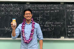 With his bachelor's in math complete, he heads to California to further his education.