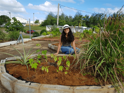 Associate Director Else Demeulenaere of the UOG Center for Island Sustainability shares several benefits of green roofs