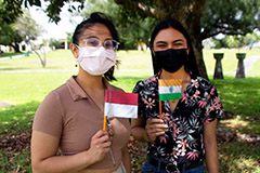 Two UOG students completed the State Department's Critical Language Scholarship Program this summer.