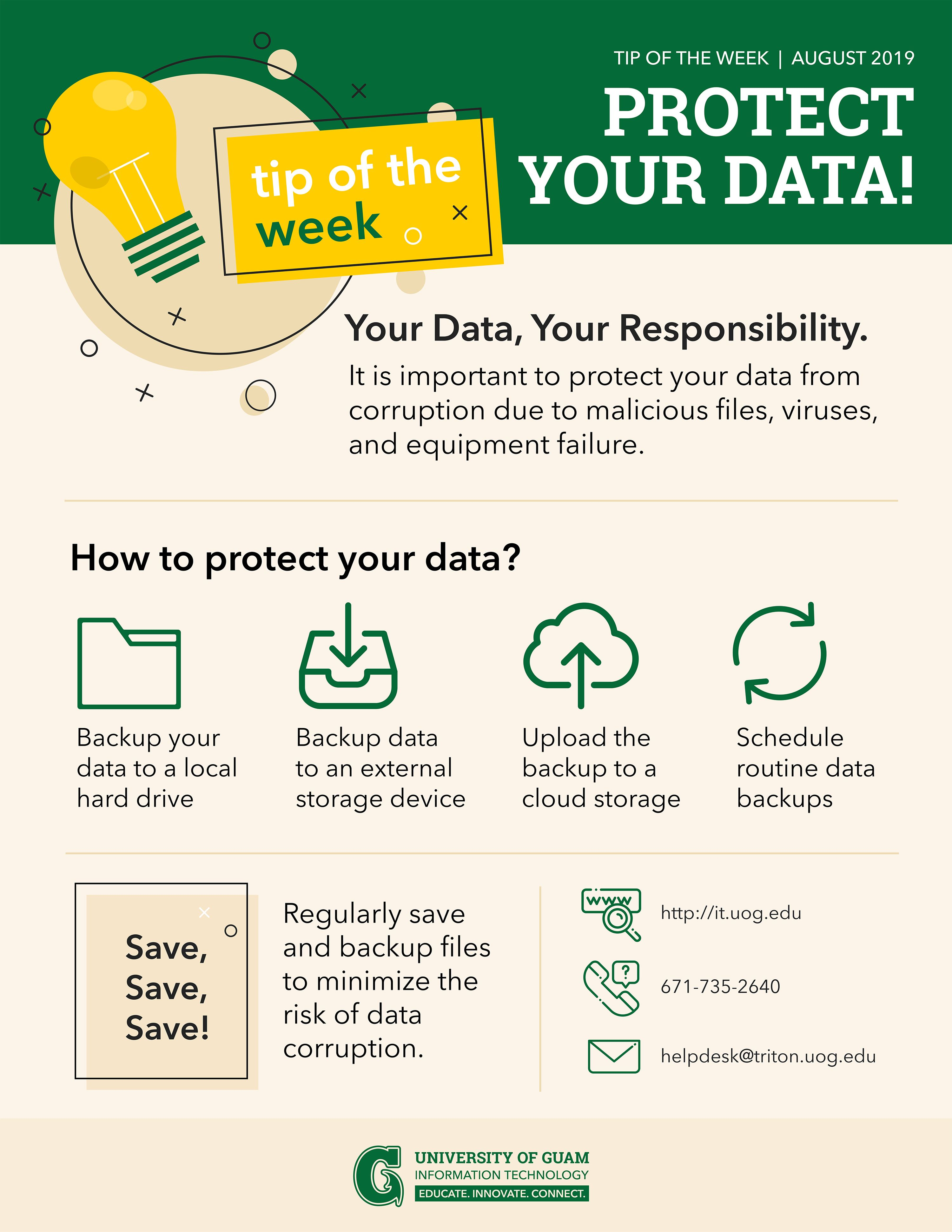 Infographic about Protecting Your Data