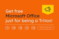 Get FREE Microsoft Office just for being a Triton!