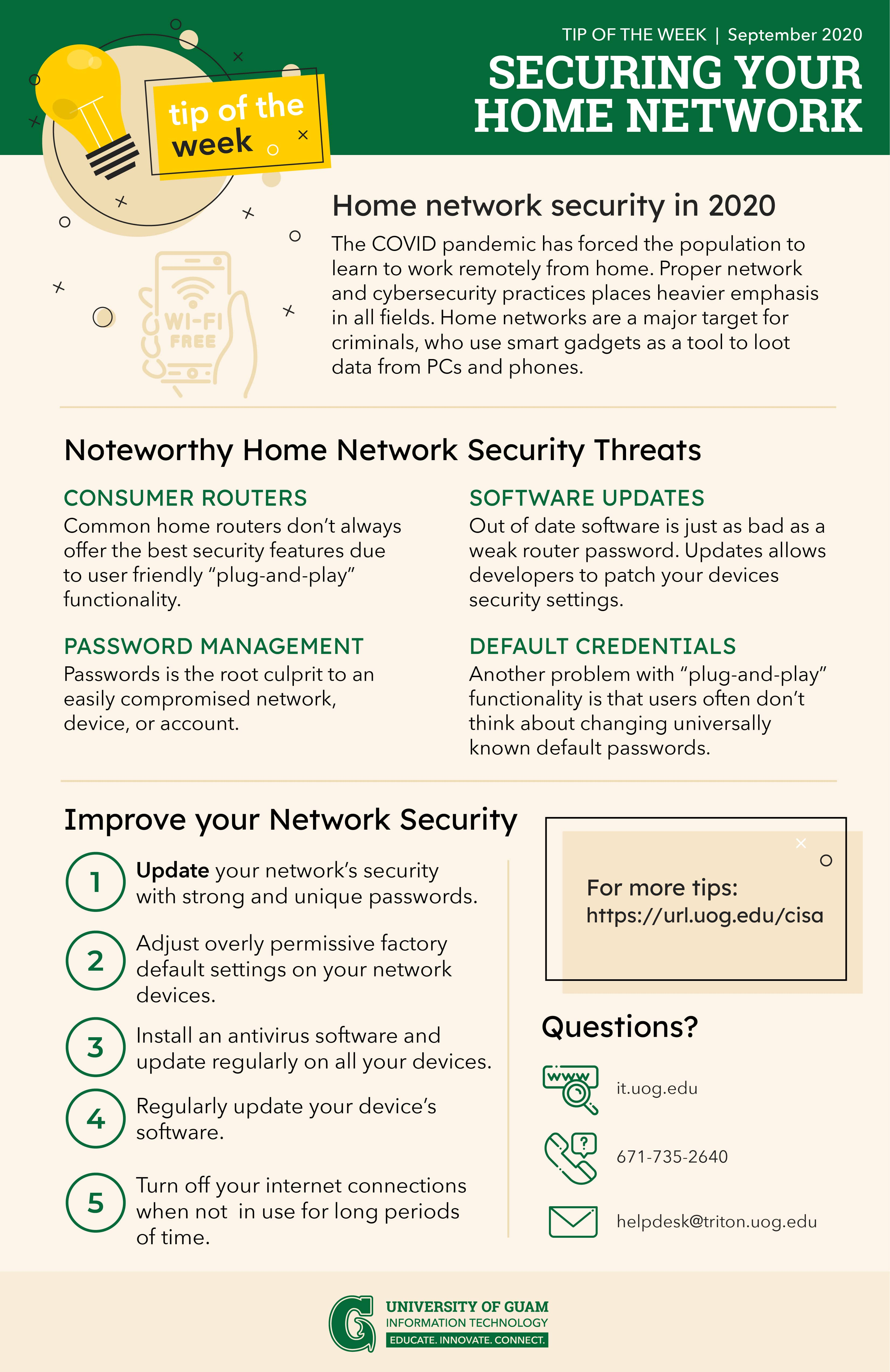 Inforgraph about Securing Home Network