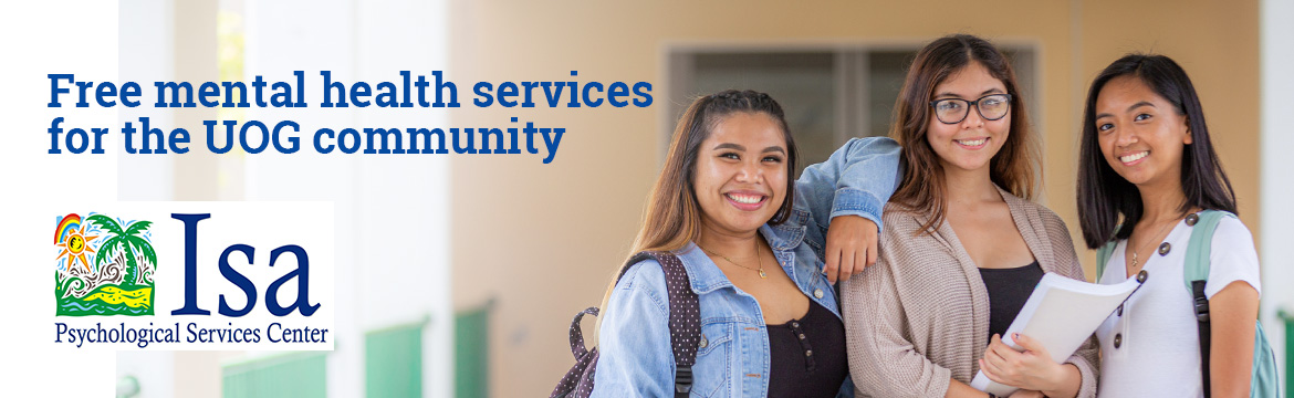 Web Banner Image: Free mential health services for the UOG Community